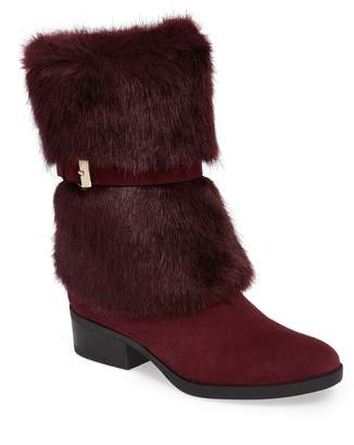 Taryn Rose Giselle Water Resistant Faux Fur Boot
