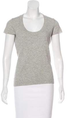 Barneys New York Barney's New York Short Sleeve Cashmere Top