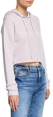 Wildfox Couture Cropped Graphic Pullover Hoodie
