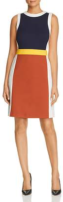 Tory Burch Mya Sleeveless Color-Block Dress