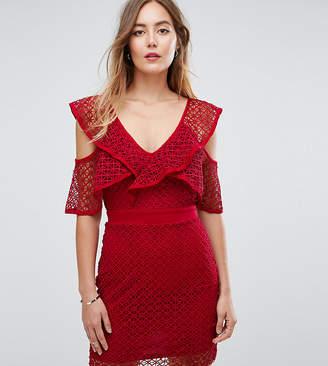 Missguided Tall Lace Sleeve Detail Mini Dress