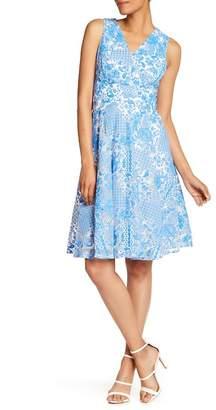 Sangria Printed Mesh Dress