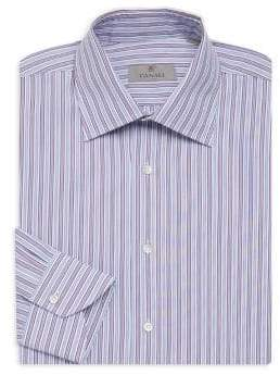 Canali Bold Strip Dress Shirt