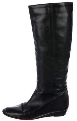 Loeffler Randall Leather Wedge Mid-Calf Boots