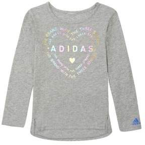 adidas Little Girl's Long Sleeve Tee