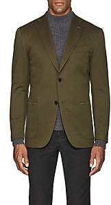 Eidos Men's Wool-Cotton Two-Button Sportcoat-Olive