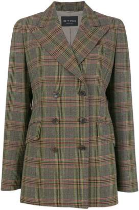 Etro checked jacket