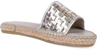 Andre Assous Sari Metallic Slide Sandals Women's Shoes $129 thestylecure.com