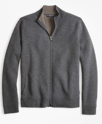 Brooks Brothers Double-Face Full-Zip Sweater