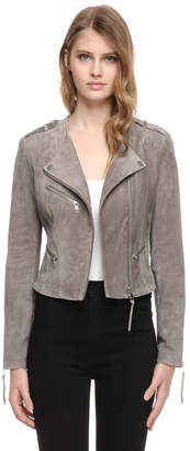 Soia & Kyo KARLA lined slim fit suede leather jacket