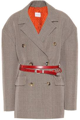 Magda Butrym Bursa leather-trimmed wool blazer
