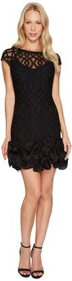 Jessica Simpson Ruffle Bottom Lattice Dress Women's Dress