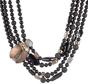 Alexis Bittar Women's Crystal Encrusted Scarab Multi-Stone Multi-Strand Bib Necklace