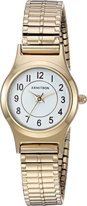 Armitron Women's 75/5420WTGP Easy To Read Dial -Tone Expansion Band Watch