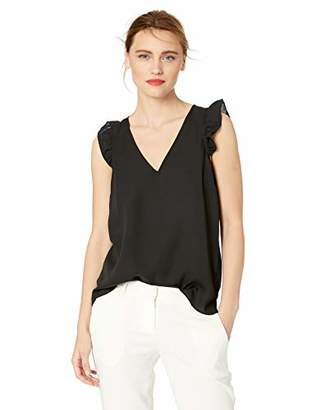 J.Crew Mercantile Women's Sleeveless Ruffle Top,0