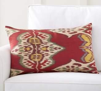 Pottery Barn Inez Ikat Print Silk Lumbar Pillow Cover