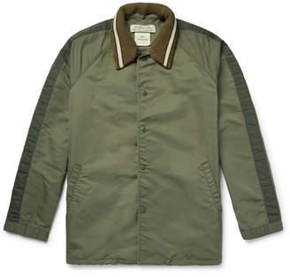 Nylon-Twill Coach Jacket With Detachable Ribbed Collar
