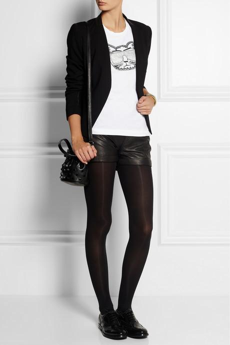 Karl Lagerfeld Embellished printed cotton-jersey T-shirt