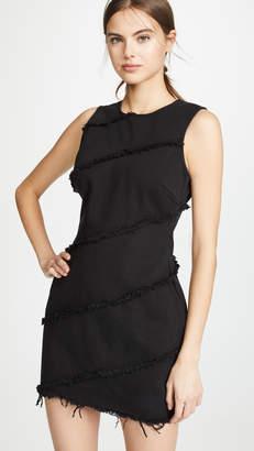 Alexander Wang Denim x Diagonal Seamed Dress