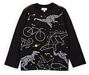 Paul Smith Kids' Dinosaur-Constellation-Print Cotton T-Shirt - Black
