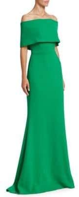 Lela Rose Off-The-Shoulder Gown