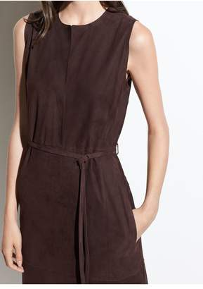 Vince Suede Belted Dress