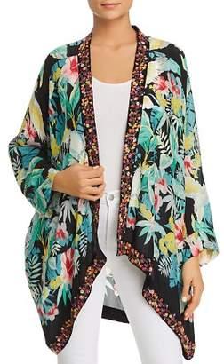 Johnny Was Solomio Tropical-Print Kimono