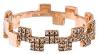 Ring 14K Diamond Square Stacking