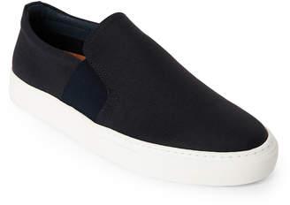N. Supply Lab Navy Ben Canvas Slip-On Sneakers