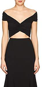 Off-White Women's Ruched Off-The-Shoulder Top-Black