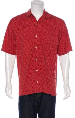 Zegna Sport Printed Short Sleeve Shirt