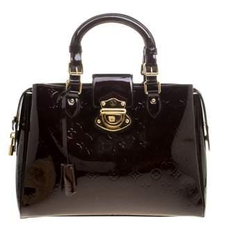 Louis Vuitton Burgundy Patent leather Handbag