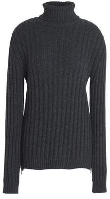 Moschino Ribbed Wool And Cashmere-Blend Turtleneck Sweater
