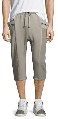 Helmut Lang Terry Cloth Sweat Shorts, Light Gray $275 thestylecure.com