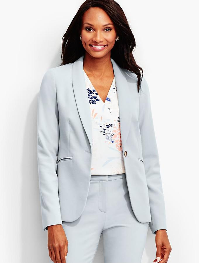 Luxe Italian Double-Weave Shawl-Collar Jacket-Newport Collection
