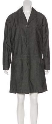 6397 Long Sleeve Denim Dress