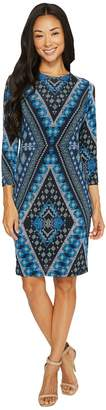 Karen Kane Diamond Print Sheath Dress Women's Dress