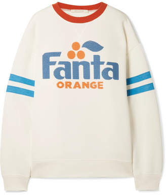 Fanta Sequined Printed Jersey Sweatshirt - White