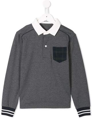 Familiar contrast pocket polo shirt