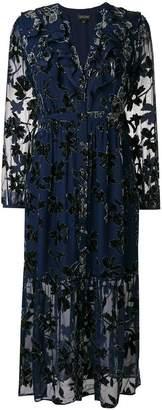 Saloni floral long-sleeved dress