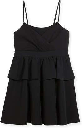 Milly Minis Tara Italian Cady Peplum Dress, Size 8-16