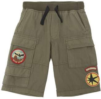 Diesel Cotton Poplin Cargo Shorts
