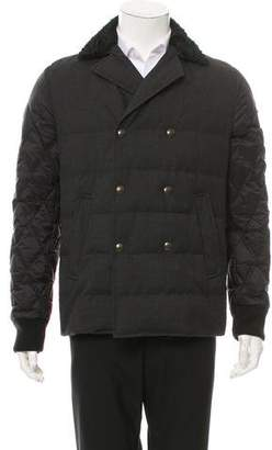 Moncler Gamme Bleu Double-Breasted Down Coat