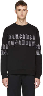 McQ Black Gothic Repeat Logo Clean Sweatshirt