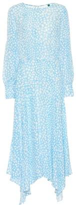 Rixo Elsa leopard-print midi dress