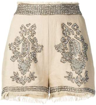 f8bc0ba6688f7a Embellished Beaded Shorts - ShopStyle
