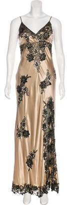 Sue Wong Embellished Satin Gown