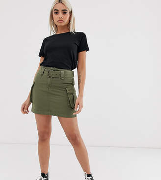 New Look Petite utility skirt in green