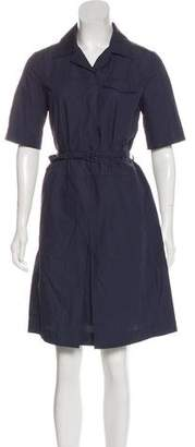 Prada Sport Short Sleeve Knee-Length Shirtdress