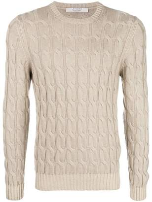 D'aniello La Fileria For cable-knit cashmere jumper